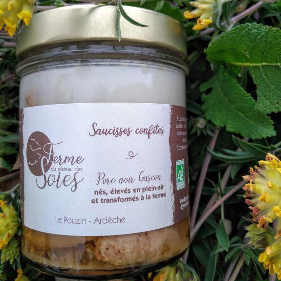 Saucisses confites Bio (porc gascon)