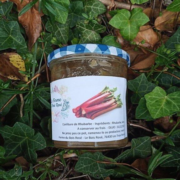 Confiture de rhubarbe et pointe de vanille
