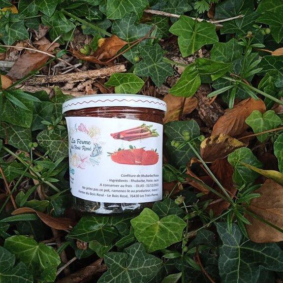 Confiture de rhubarbe-fraise