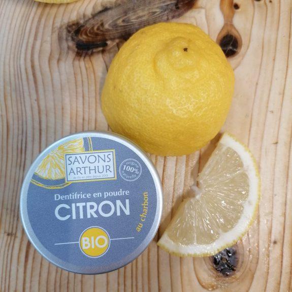 Dentifrice en poudre Citron au charbon