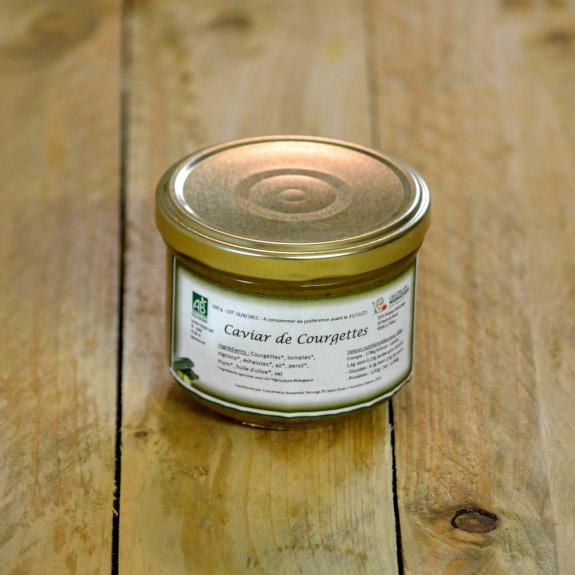 Caviar de courgette bio